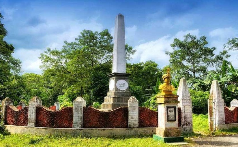 War Memorial at the Battle of Plassey Ground, Murshidabad