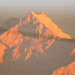 Kanchenjunga peak at sunrise from Rishyap
