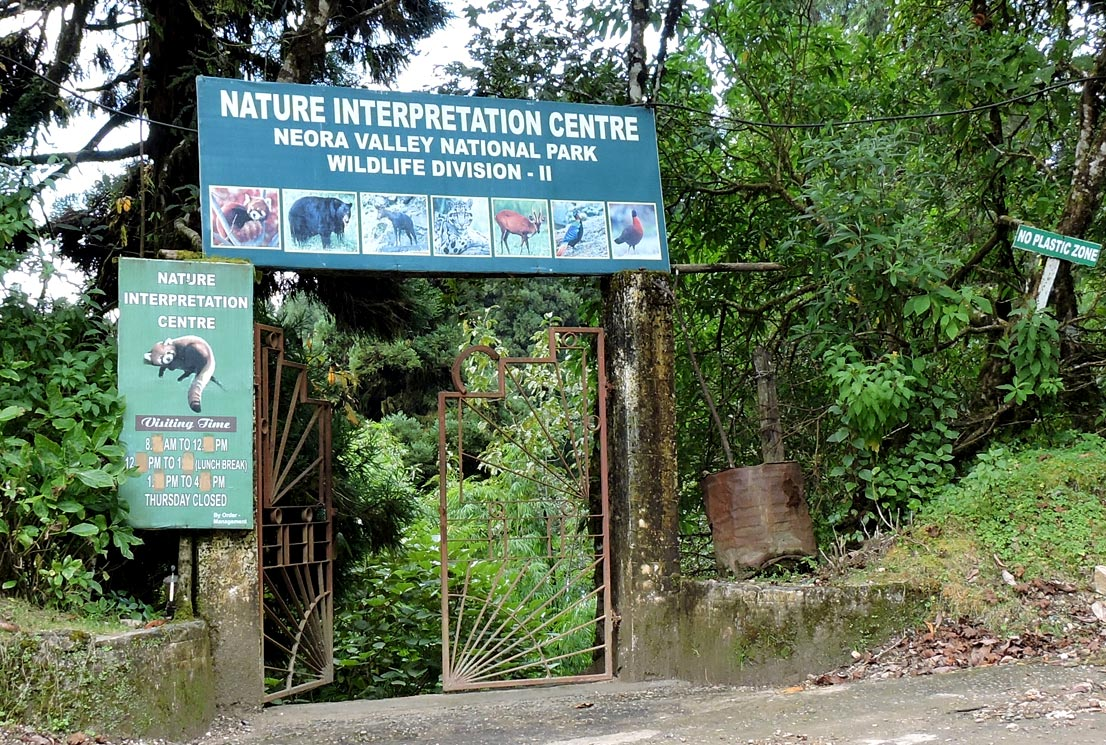 Nature interpretation center in lava
