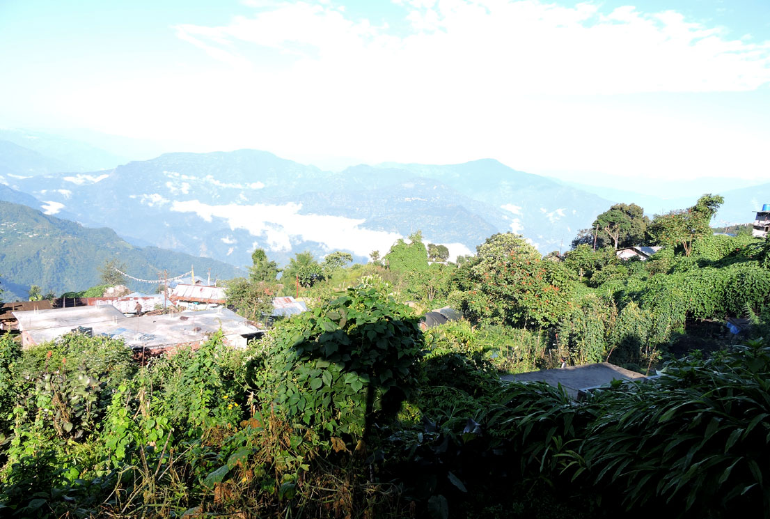 Magnificent morning from homestay balcony