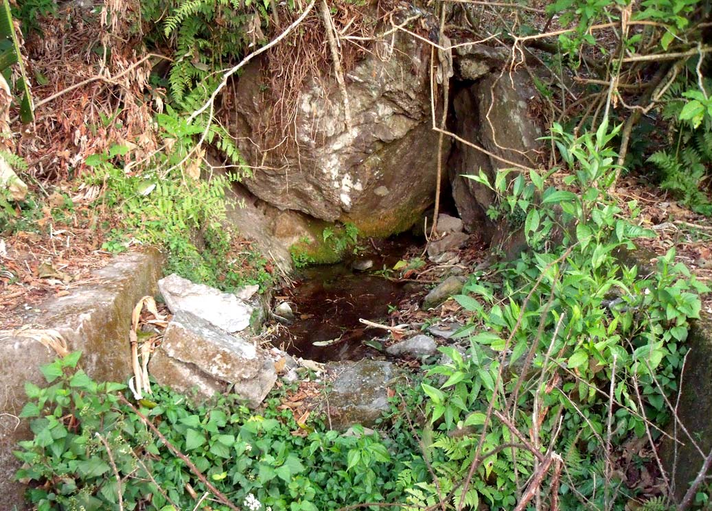 Drinking water source for the village