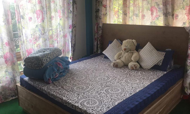 Gorkhali Homestay bed room, Cheap and best homestay at Peshok