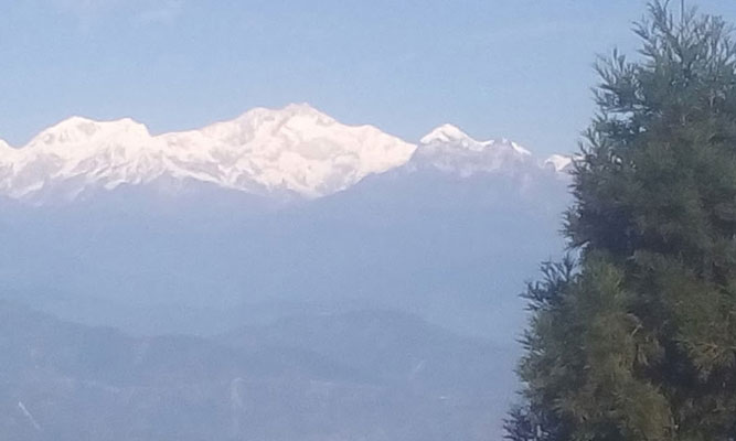 Kangchenjunga view from Dawaipani Village