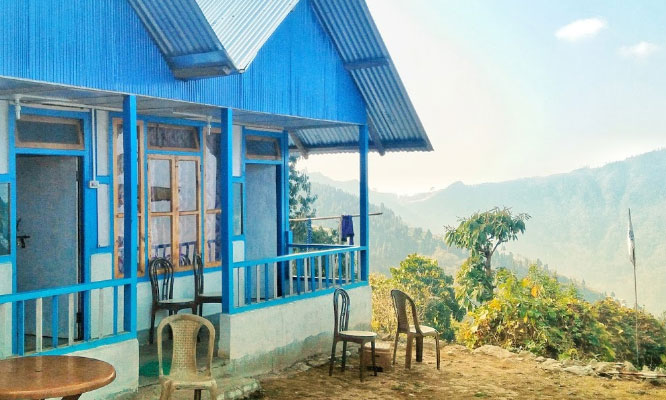 View of Icche Gaon from Puja Homestay at Icche Gaon