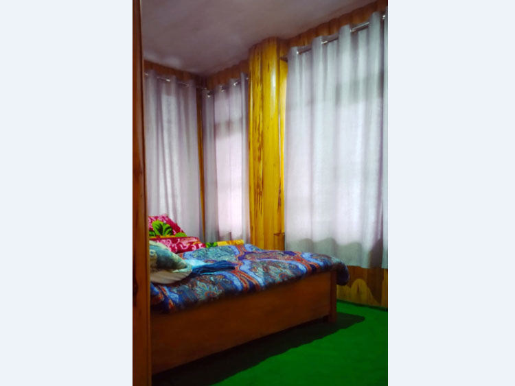 Green valley homestay bed room at lepchajagat