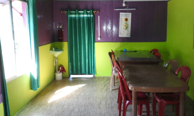 Kharkha Homestay dinning room at Latpanchar