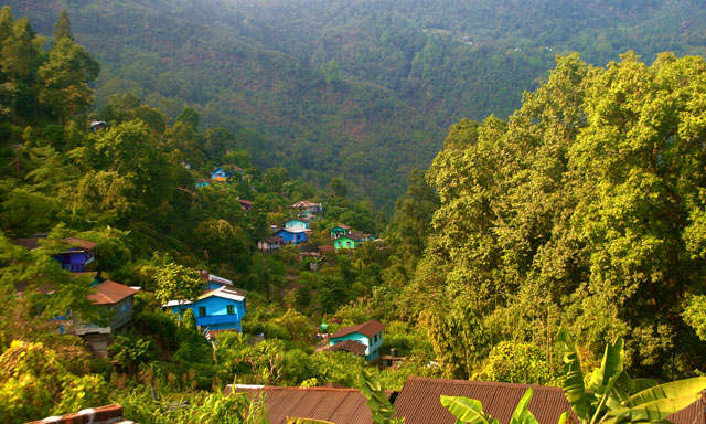 Best view of Latpanchar from Kharkha Homestay