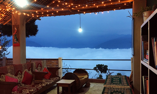Chisang The Wildwoods Homestay drawing room at above the cloud