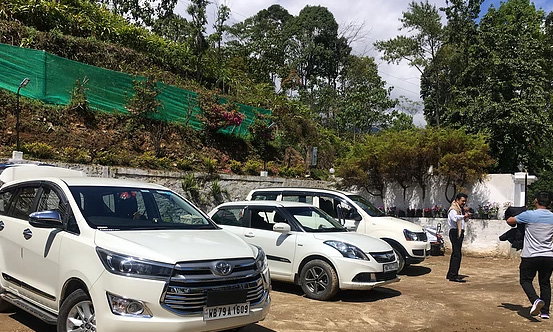 Car parking at The Wildwoods-Homestay at chisang