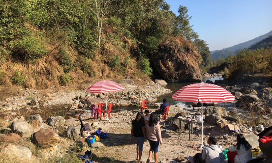 River side picnic at Chisang near The-Wildwoods-Homestay