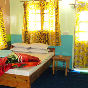 kharkha home stay bedroom at latpanchar