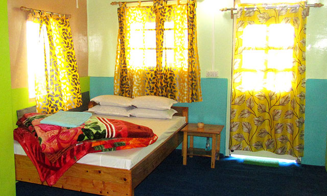 Double bedded room kharkha home stay latpanchar