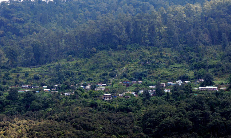 Echhey forest village or Icche Gaon full view