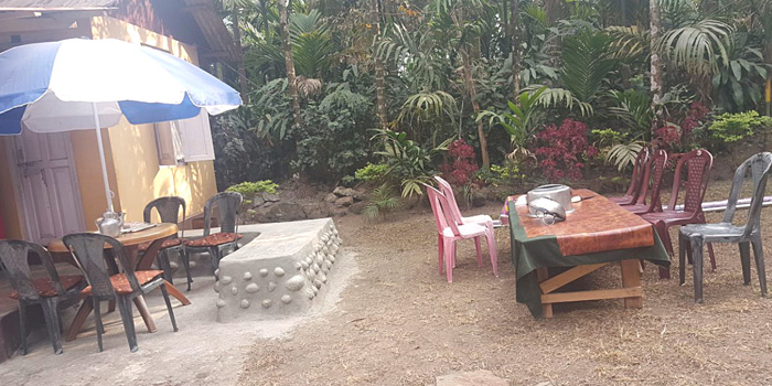 Jaldakha home stay open sky breakfast table
