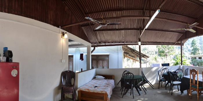Jaldakha home stay open dinning place