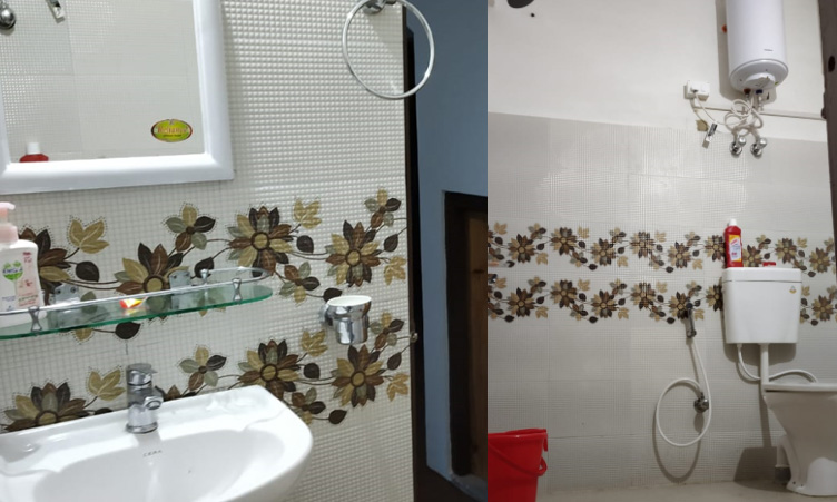Bathroom image at Noryang Homestay at Tinchuley