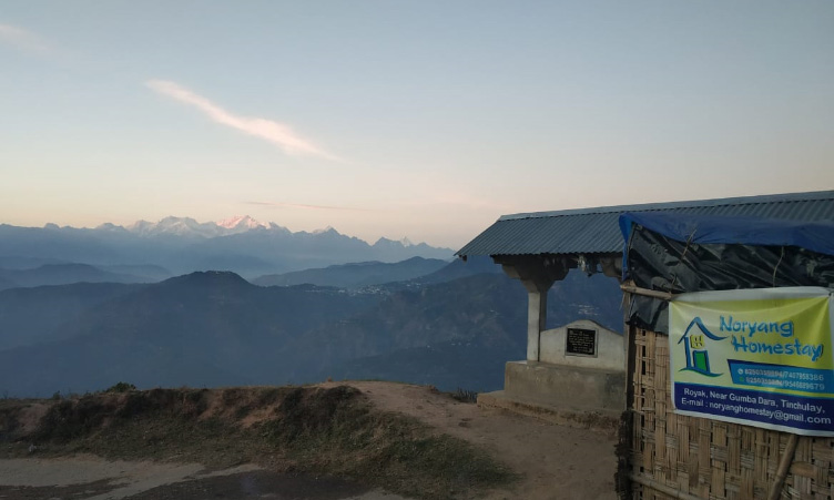 Kangchenjunga view from Noryang-Homestay at