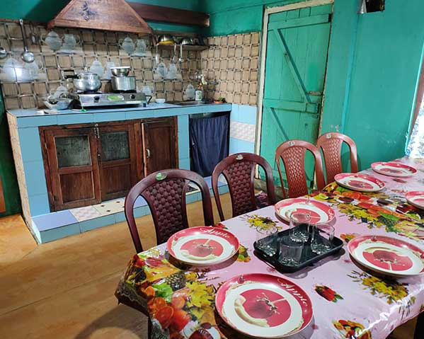 Khinanam Kabiraj Homestay at Dawaipani dinning table