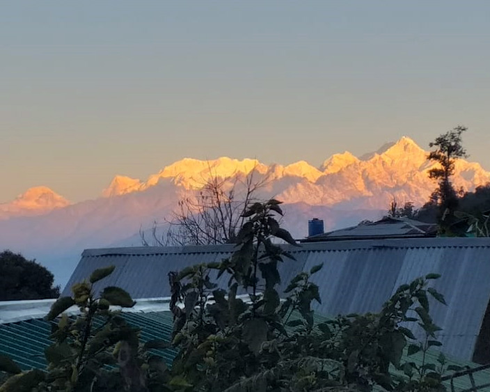 Best view of Kangchenjunga from Icche Gaon from Pankarma homestay