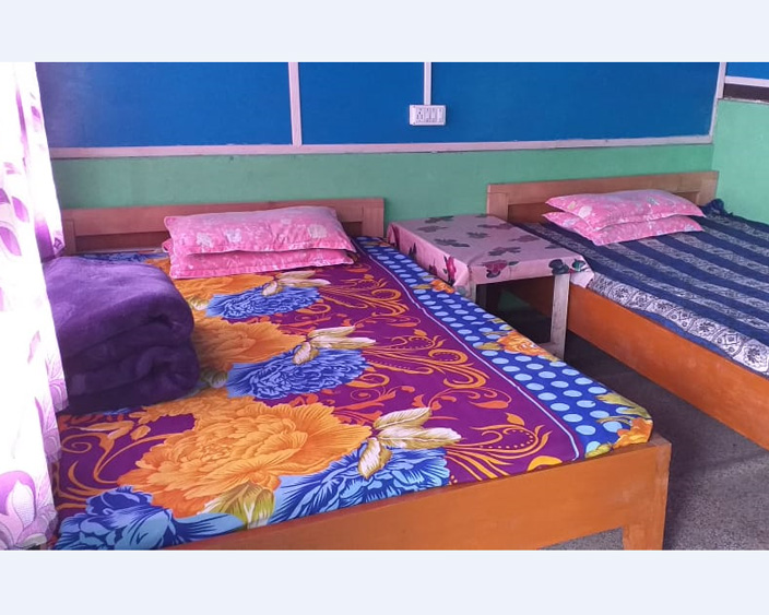 newly constructed double beaded nice room for night stay at icche gaon at west bengal